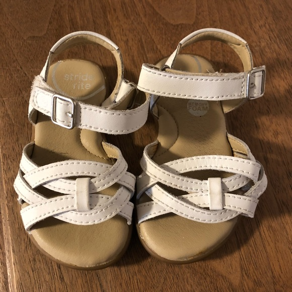 Stride Rite Shoes | White Sandals Size